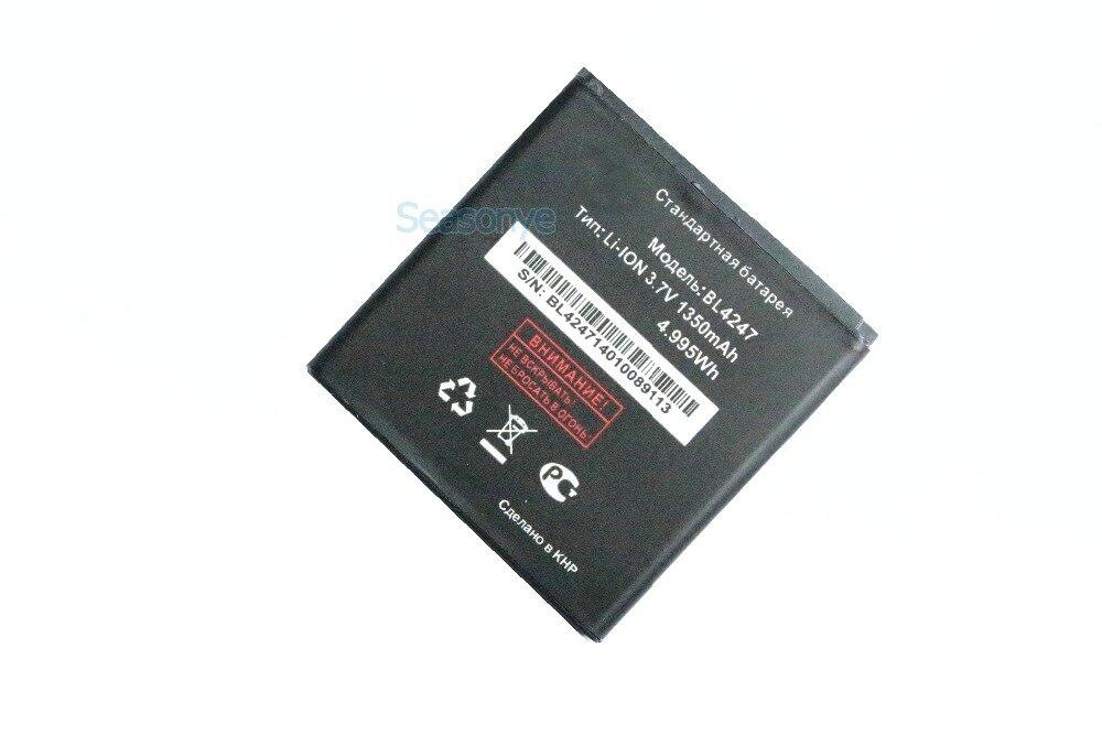 Новый 1350 мАч/4.995wh <font><b>bl4247</b></font> Замена Батарея для Fly BL 4247 <font><b>iq442</b></font> Чудо 1 Аккумулятор Bateria Batterij + трек без