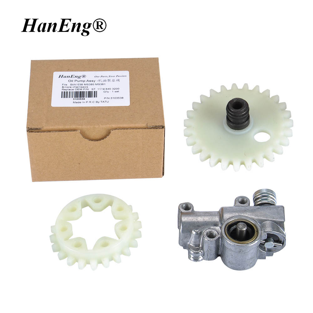 Oil Pump W Worm Spur Gear For Stihl Chainsaw 038 042 048 Ms380 044 Parts Diagram Free Engine Image User Ms381 Gasoline Chain Saw Repl P N 1119 640 3200 In Tool From Tools On