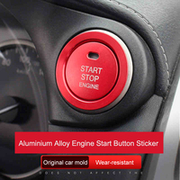 QHCP Car Engine Start Stop Button Ring Sticker Aluminium Alloy Ignition Device Switch Frame Cover For Lexus NX200 300 200T 300H