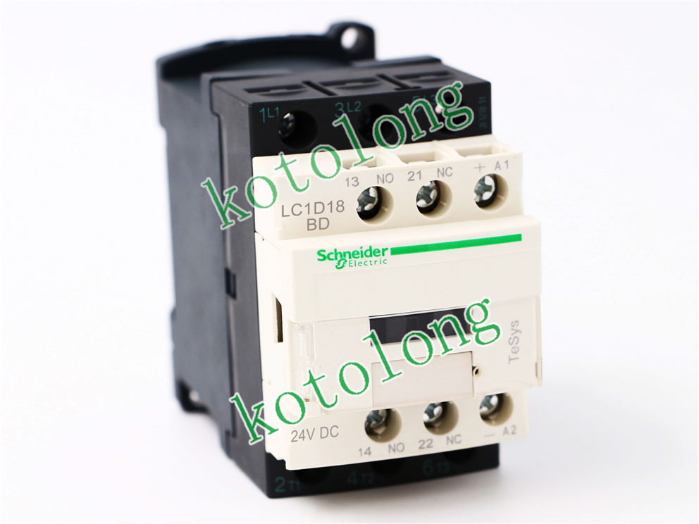 DC Contactor LC1D18 LC1D18BD LC1-D18BD 24VDC LC1D18BND LC1-D18BND 60VDC LC1D18CD LC1-D18CD 36VDC LC1D18DD LC1-D18DD 96VDC tesys k reversing contactor 3p 3no dc lp2k1201md lp2 k1201md 12a 220vdc lp2k1201nd lp2 k1201nd 12a 60vdc coil