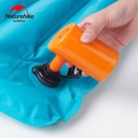 Naturehike bomba inflável elétrica para esteira de ar ao ar livre acampamento à prova de umidade colchão travesseiro de viagem mini portátil inflável