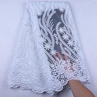 Чистый белый молочный шелк кружевная свадебная ткань материалы африканская кружевная ткань Последняя французская Nigreian вуаль кружевная тк...