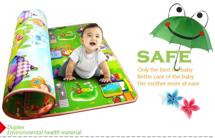 Tapete Infantil Baby Crawling Mat 2m1.6m0.5CM Both Sides Baby Toy Eva Play Mat Carpet Child Game Pad Mats For Children  (1)