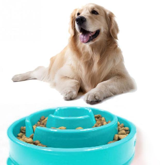 High quality 1PC Anti Choke Pet Dog Feeder Funny Slow Down Eating Feeder bowl