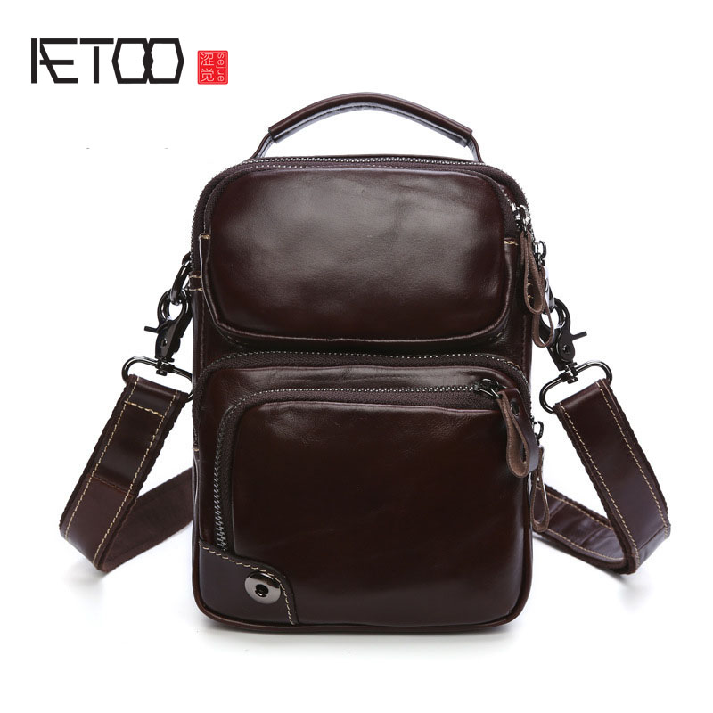 AETOO Office casual fashion male package multifunctional fashion short paragraph fashion male package black fashion male bag free shipping dental periodontal disease assort tooth typodont model
