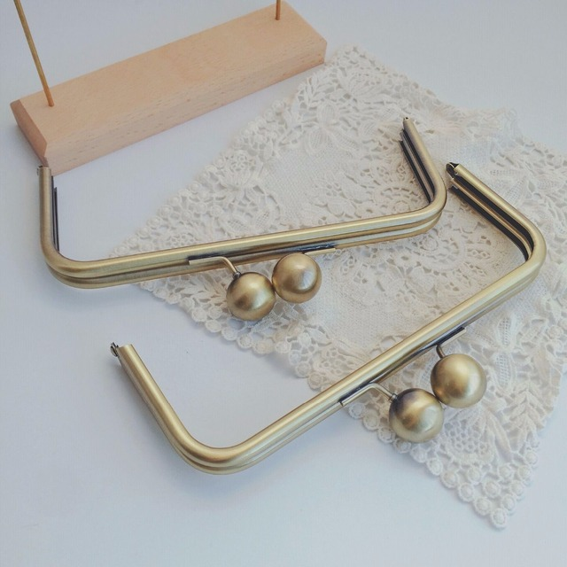 22*9CM with 25 mm big ball Purse frame No Hooks Sewing Metal purse handle DIY Obag Accessories Design Purse Frame Dropshipping