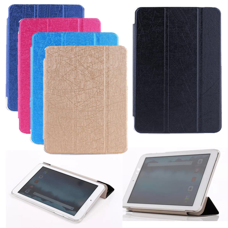 high quality Stylish transparent PU leather case for xiaomi mipad 2 Stand cover for XIAOMI mi pad 2 capa funda Black,blue, gold