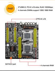 Image 5 - 마더 보드 콤보 HUANANZHI 듀얼 CPU X79 데스크탑 마더 보드 듀얼 CPU 인텔 제온 E5 2670 C2 2.6GHz 쿨러 32G RAM REG ECC