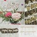 Shape Wooden Script Design Table Numbers Vintage Rustic Weddings Set 1-12 Decor