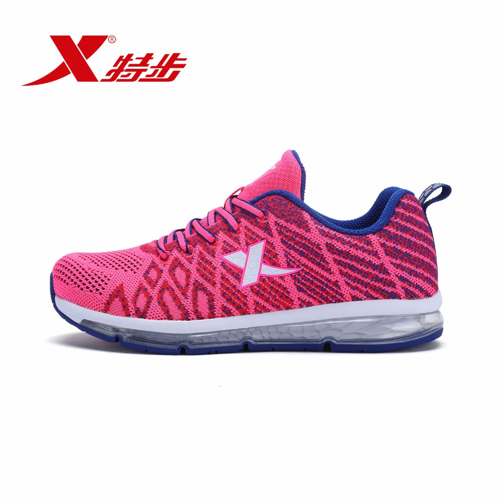 983218119386 Xtep 2018 Pink Woman Shoe Breathable Trail