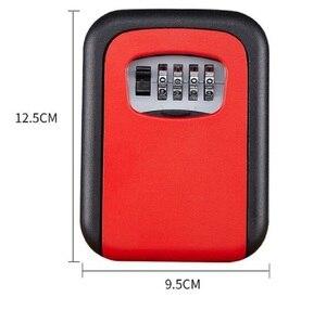 Image 5 - 벽 마운트 키 스토리지 주최자 상자 4 자리 조합 잠금 예비 키 주최자 상자 금속 비밀 안전 상자