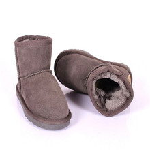 2017 New Fashion Winter Childrens Shoes Genuine Leather Girls Boys Boot Toddler Baby Snow Boots Classic Flat Warm Boots For Kids
