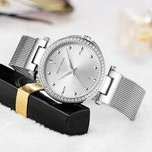 Мини фокус, женские кварцевые часы с сетчатым ремешком, Простые аналоговые водонепроницаемые наручные часы, женские часы MF0194L. 03