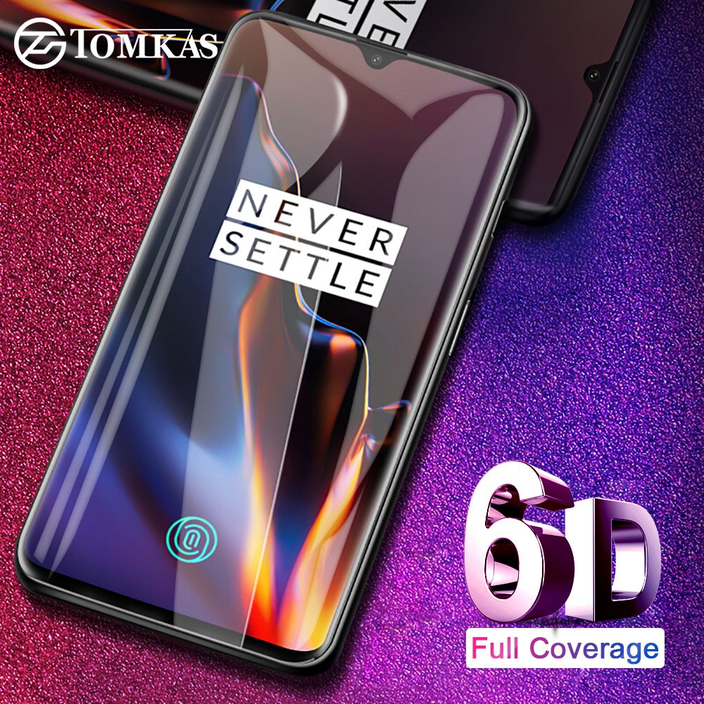 TOMKAS 6D מגן זכוכית עבור Oneplus 6 T מזג זכוכית מסך מגן סרט עבור Oneplus 6 5 5 T מגן זכוכית אחת בתוספת 6 T