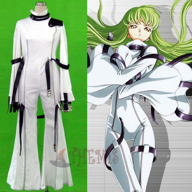 6b66cba0306 Athemis White Flares Code Geass C.C. Cosplay Costumes Women One-pieces  Jumpsuits Unique Bell-bottom Trousers Attractively