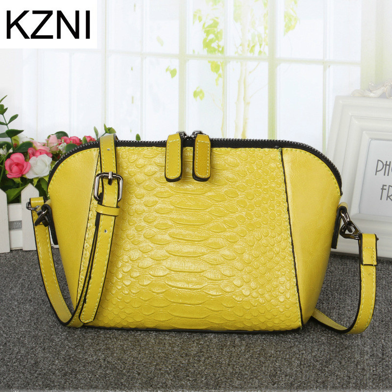KZNI Genuine Leather Purse Crossbody Shoulder Women Bag Clutch Female Handbags Sac a Main Femme De Marque L122513 kzni genuine leather bag female women messenger bags women handbags tassel crossbody day clutches bolsa feminina sac femme 1416