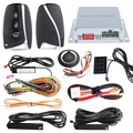 PKE auto alarm system with remote car engine start stop, push button start & passive keyless entry kit, touch password keypad