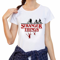Topjini Plus Size Women Stranger Things Print T Shirt Loose 6XL 5XL Short Sleeve O Neck