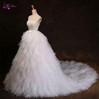 Waulizane Charming Tiered Skirt Sweethrart Ball Gown Wedding Dress Hot Sale Shininy Crystal Beaded Sequined 2017