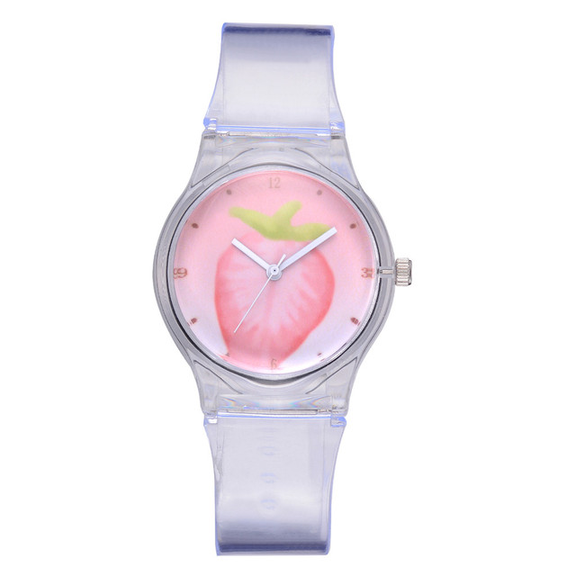 Fashion Women Watches Casual Girl Silicone Strap Quartz Wrist Watch Ladies Watch