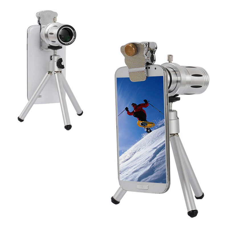 Universal Clips 12x Zoom TelephotoTelescope Lentes For IPhone 4 5 5s 6 6s 7 Plus Samsung
