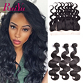 Mink Brazilian Body Wave Virgin Hair With Ear To Ear Lace Frontal Closure Bundles Body Wave Human Hair 3 Bundles With Closure