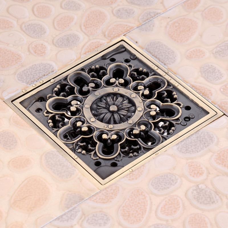Antique Brass 4 Quot Square Floor Drain Cover Decorative Floor