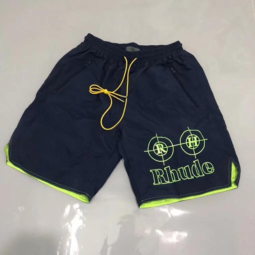 Rhude Short Pants With Pocket Men Knee Length Elastic Waist Casual Rhude Shorts