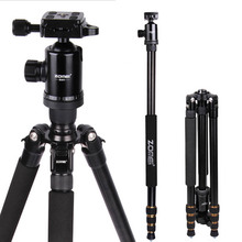 On sale New Zomei Z688 Aluminum Professional Tripod Monopod For DSLR Camera With Ball Head / Portable Camera Stand / Better than Q666