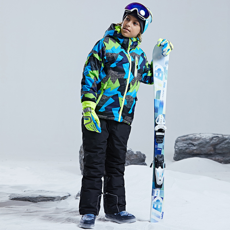 Image 5 - Warm Waterproof Child Ski Suit Heavyweight Boys Outfits Winter 