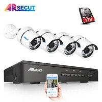 ANRAN Plug And Play 48V 4CH NVR POE Video Surveillance System Onvif 1080P HD 30 IR