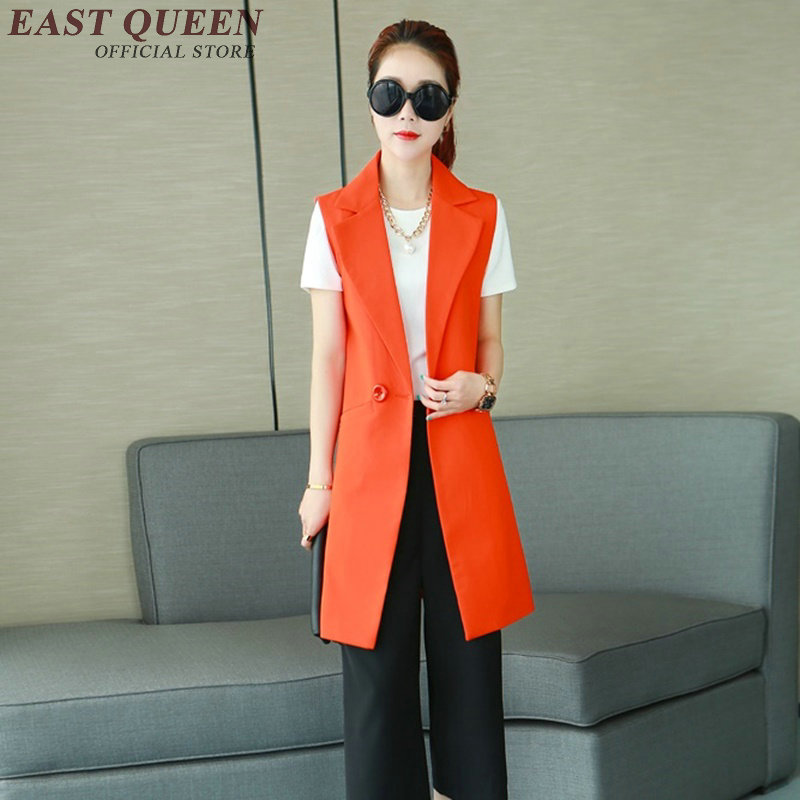 Vest female red black women sleeveless jacket women winter vest waistcoat female long vest women blazers and jackets AA1255