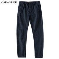 CARANFIER Nouvelle Hommes D'affaires Décontractée Pantalon Stretch Élastique Tissu Mince Pantalon Droit Mâle Pantalon Vêtements de Travail Bleu Noir Gris