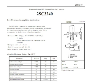 Image 2 - Hifivv audio 2SC2240 2SA970 Original C2240 A970 Triode IC chip HIFI audio amplifier