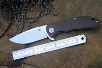 New CH Knife CH3504 G10 Handle D2 Blade Ceramic Ball Bearing Washer Hunting Folding Knife EDC