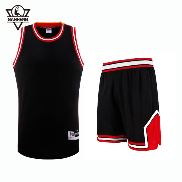 SANHENG Men's Basketball Jersey Shorts Competition Uniforms Suits Breathable Sports Clothes Sets Custom Basketball Jerseys 309AB