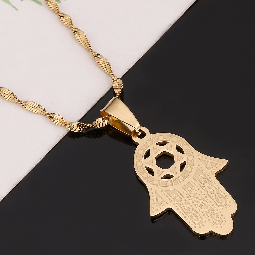 for women itm chain star jewish gold pendant plated necklace of magen jewelry david men
