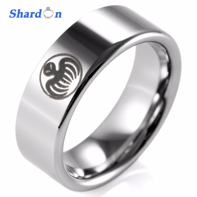 Shardon Wedding Engagement Jewelry Designer Ring Engraved Tungsten Men S Outdoor Band