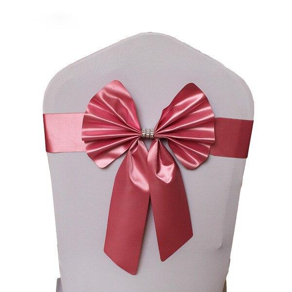 Noeud de Chaise Mariage Sashes узел бант на свадебный стул галстук украшение Stuhl Schleifen Hochzeit ssarfa Fajin Stoel Sjerp - Цвет: 009