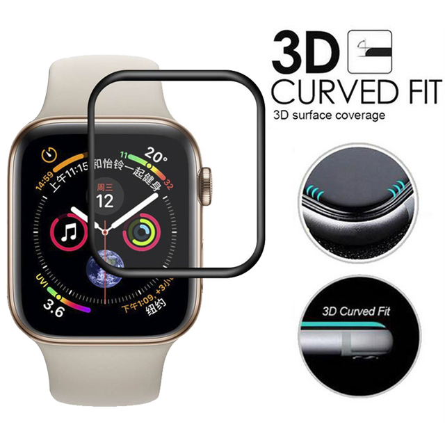 3D Curved Full Coverage Tempered Glass For Apple Watch Series 4/3/2/1 Screen Protective Glass For iWatch 40mm 44mm 38mm 42mm3D Curved Full Coverage Tempered Glass For Apple Watch Series 4/3/2/1 Screen Protective Glass For iWatch 40mm 44mm 38mm 42mm