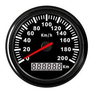 Image 1 - 120 km/saat, 200 km/h tekne kilometre su geçirmez paslanmaz Speedo göstergesi araba motosiklet dijital hız göstergesi kırmızı aydınlatmalı