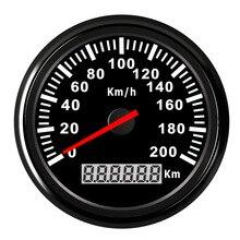 120Km/H, 200Km/H Thuyền Đồng Hồ Tốc Độ Chống Thấm Nước Đồng Hồ Bơi Speedo Đo Cho Ô Tô Xe Máy Kỹ Thuật Số Đồng Hồ Đo Tốc Độ Đỏ Đèn Nền