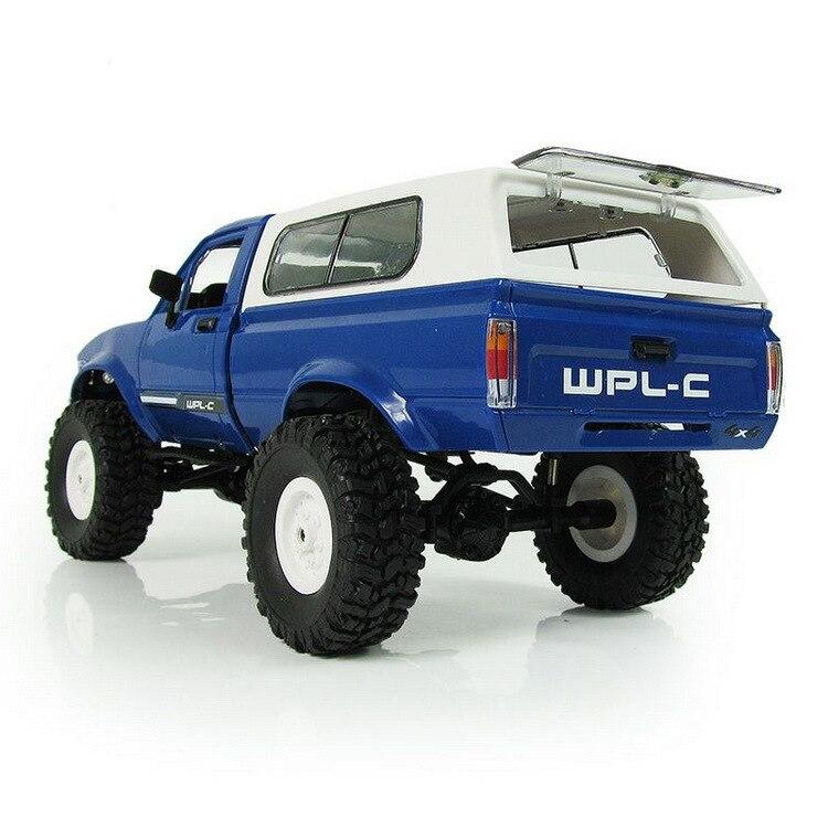 WPL RC voiture C-24 Jeep 4WD RC voiture télécommande jouet 1:16 modèle voiture 2.4G tout-terrain RC haute vitesse camion RTR voiture pour enfant cadeau - 5