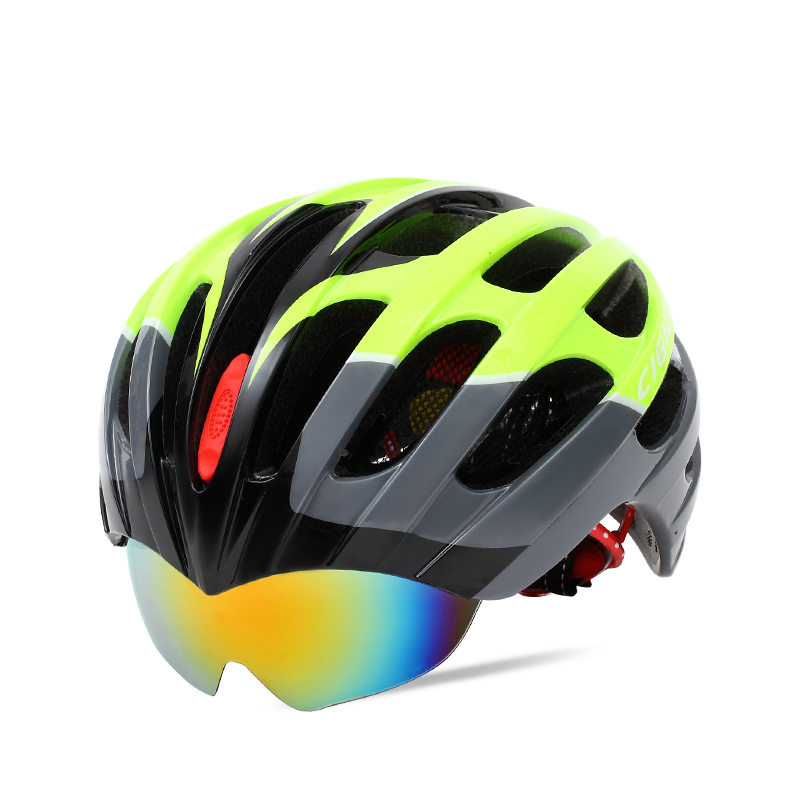 ФОТО SAVA Cycling Helmet with 3 Lens Import PC +EPS 56-62CM Multi color to choose