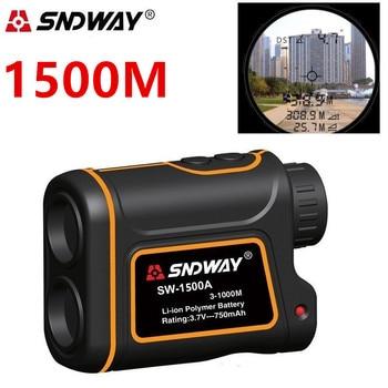 цена на Sndway Telescope Laser Rangefinder Distance Meter 1500m 1000m Monocular Golf hunting laser Range Finder tape Measure Roulette