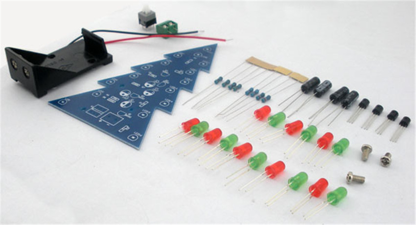 Diy Christmas Tree Led Flashing Light Water Diy Electronic Science And Technology Of Making Electronic Small Production In Integrated Circuits From