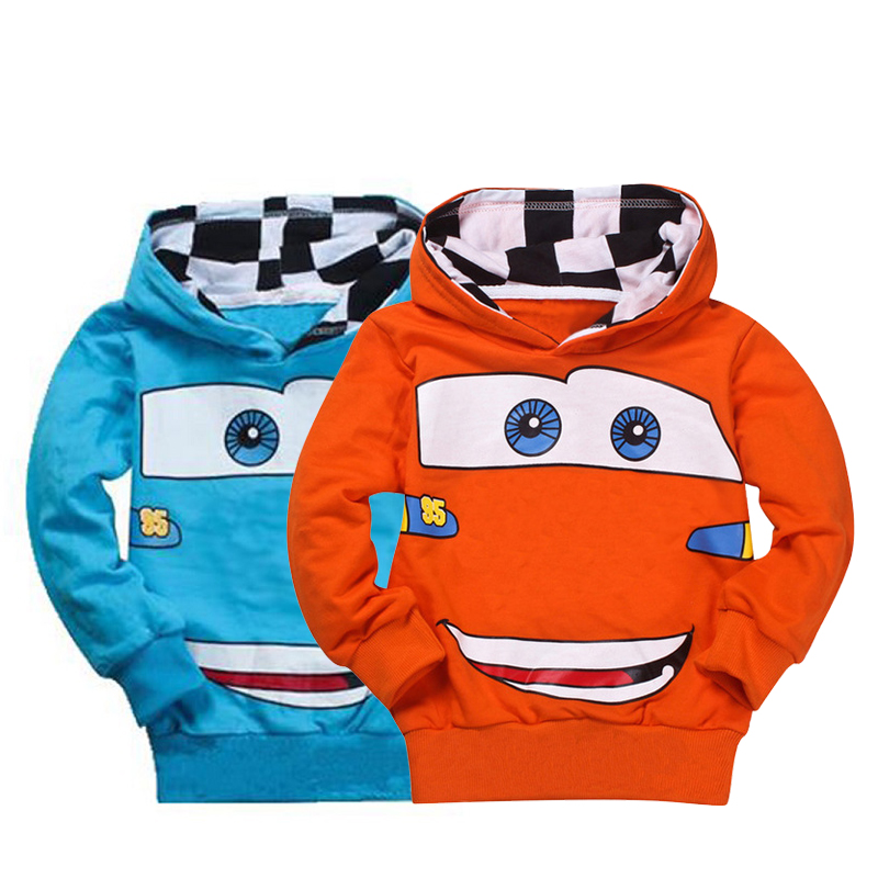 bibihou Autumn Hoodies Boys Sweatshirts Cartoon Flash
