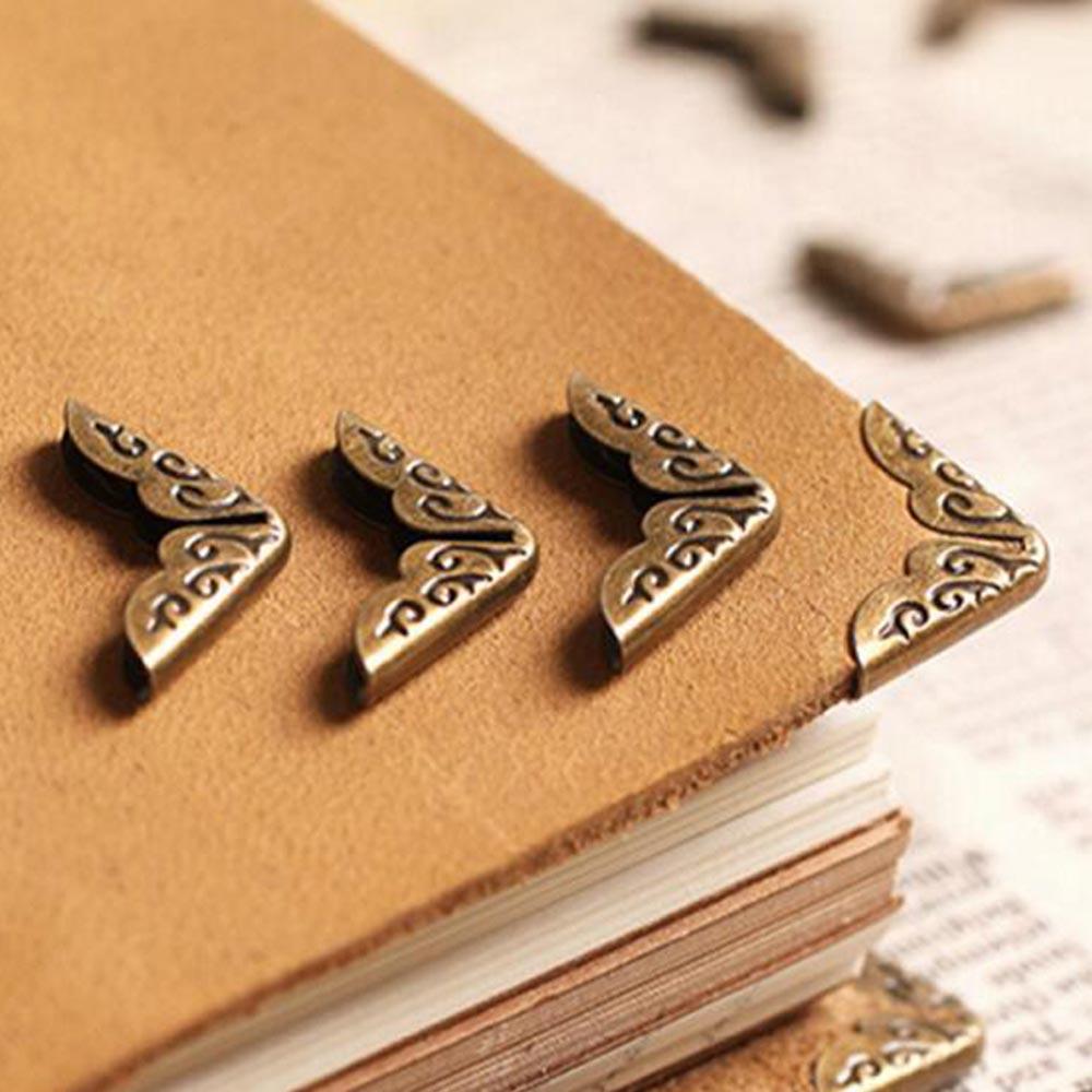 50pcs Scrapbook Diary Book Albums Menu Folders Metal Corner Protector Decor 17mm