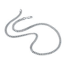 Fashion Punk style 100% 925 sterling silver necklace mens personality 5 mm 18 - 22  inches thick chain men jewelry