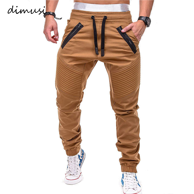 DIMUSI Mens Joggers Casual Fitness Sweatpants Men Sportswear Tracksuit Sweatpants Male Hip Hop Trousers Gyms Jogger Track Pants